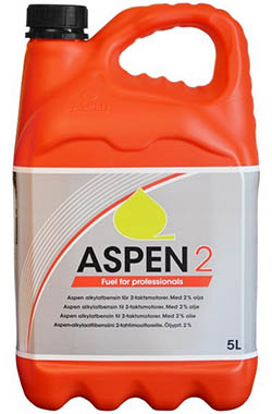 Aspen 2 FRT pre-mixed 2-stroke alkylate petrol (50:1)